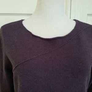 Calvin Klein Jeans Rolled Hem Purple Sweater XL